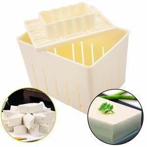 Tofu Kutusu DIY Tofu Kalıp Sütlü Beyaz Plastik Soya Peyniri Yapma Tofu Basın Makinesi Kalıp Kutusu Araçları Damla nakliye