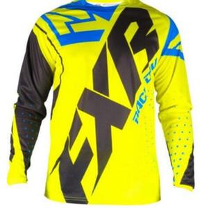 2020 Enduro Formalar FXR Motocross MX Bisiklet MTB Jersey Bisiklet T-Shirt Erkekler Dağ Camiseta DH Uzun Kollu Yokuş Aşağı Giysi ATV