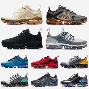 nike air vapormax 2019 utility em execução sapatos utilidade executar esportes tênis de ouro branco sportswear preto formadores de designer Borgonha CRUSH