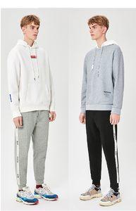 Fashion Men's Casual Pants 2019 Autumn and Winter New Men's Sport Pants Thick Versatile Fashion Sports Feet Knit Trousers size S-2XL
