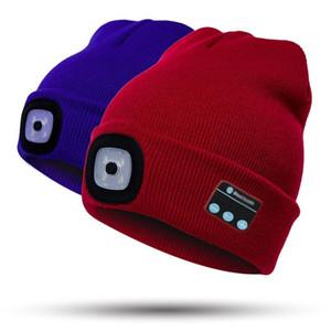 Tasarımcı LED kasketleri ile Bluetooth Sıcak Şapka Bluetooth LED Şapka Kablosuz Akıllı Cap Kulaklık Kulaklık Hoparlör şapka ışık led