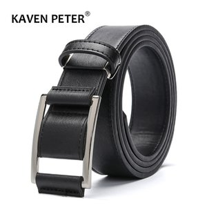 New Design Men's Faux Leather Belt Without Holes Men Pu Leather Belt Fashion Strap Male Jeans For Man Cowboy Free Shipping