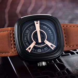 Ceinture en cuir Hot Vente sevenfriday Montres de luxe Montres de marque pour homme Mode Designer Montre Homme Horloge Montres Bon cadeau gros