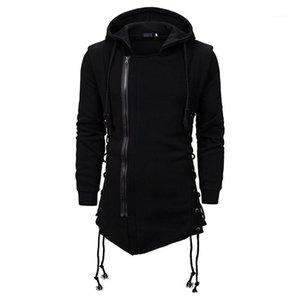 Sweatshirt der Männer lose PulloverHoodies 20AW zufälligen Männer Entwerferhoodies-Solid Color Reißverschluss vorne Langarm-Kapuzen