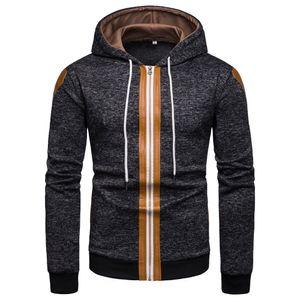 Jackets Men 2019 Male Patchwork Muti Color Hooded Overcoat Baseball Jackets Striped Casual Coat Men Outwear Streetwear Jacket