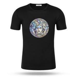Homens e manga curta T-shirt fino design clássico demônio feminino cor da cara mito humanos das mulheres t-shirt impressão alta T-shirt de algodão elástica