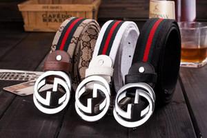 Cinturones venta caliente nueva para mujer para hombre de la correa negro correas de cuero genuinas puro negocio cinturón de serpiente patrón de la hebilla del cinturón de color para el regalo 6539