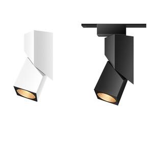 أحدث الإبداعي LED مربع COB المسار أضواء 5W 15W متجر لبيع الملابس المسار الخلفية المسار أضواء التصميم الشمال ضوء السقف