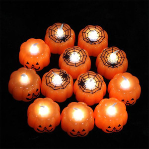 new Halloween pumpkin lamp lantern bar KTV atmosphere decoration props LED electronic party Candle Light small night JXW312