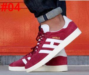 Nueva Nubuck Gazelle para hombre mujer zapatillas de deporte casuales zapatos planos hombre mujer Zapatillas 6Colors Tamaño 36-45