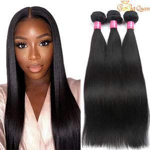 8А Бразильский Девы волос Straight 3 пачки Необработанные человеческих волос переплетений Влажные и волнистая Virgin бразильский волос