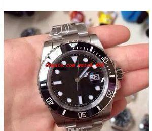 Роскошные часы Лучшие качества наручные Perpetu @ л 40мм SU / B Дата черный керамический ободок 116610 ETA 2836 Браслет стали Автоматическая Мужские часы Мужские Watche