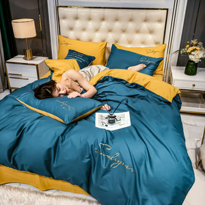 Fashion Bedding Set 100% cotton Duvet Cover Pillowcase Bed Sheet Twin Queen King Size Bed Sets Bedclothes Flat Sheet drop ship