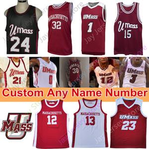 Personalizzato 2020 Umass Minutemen Basket Blayball Jersey NCAA College Sean East Tre Mitchell T.J. Settimane Carl Pierre Samba Diallo Keon CLERGEOT
