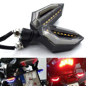 Yamaha XJR1300 FJR1300 XTZ1200 XJR1200 XT600ZE XTZ660 XV1000 için Universal motosiklet sinyal lambası akan su LED flaş İçin