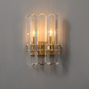 Crystal Wall lumières d'or Applique LED Ampoules Luminaires Pour Chambre Salon Éclairage d'intérieur Luster AC 110V 220v