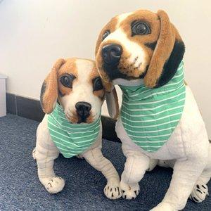 Toptan Köpekler Pet bandanas Apparel önlük önlük çizgili üçgen önlük yaratıcı Soğutma saçmalamak havlu karikatür hayvanlar sağlam ve şık önlük 0116