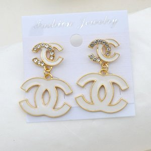 New Style Famous Designer Earrings Fashion Women Real Photos Earring Luxury C Letter Design Earrings Stud Jewelry