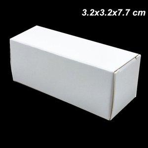 50pcs 3. 2x3. 2x7. 7cm White Kraft Paper 15ml Essential Oil Bottle Arts Packging Box for Cosmetic Nail Polish Cardboard Gift Box