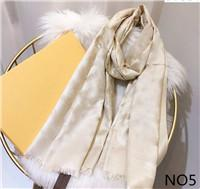 Hot Sale Silk Scarf Fashion Man Womens 4 Seasons Shawl Scarf Scarves Size about 180x70cm 6 Color with Gift Packing Optional