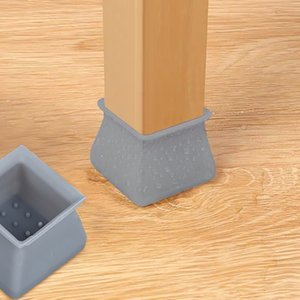 Chair accessories Table Chair Leg Silicone Cap Pad Furniture Table Feet Cover Floor Protector household leg full protection