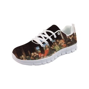 Sneakers Men Flat Shoes boy Spring Painting Art Printed White bottom Comfortable Flats Breathable Leonardo da Vinci master Piece