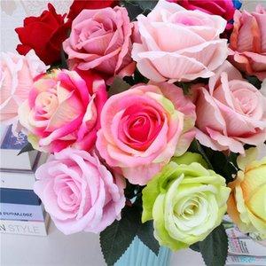 flannelette emulação única rosa decoração simulação de casamento subiu família flor simulação de férias Valentine s Day dom T9I00383