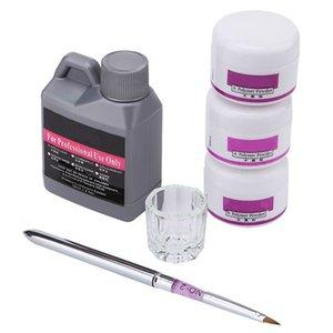 Acrílico Líquido 120ml monômero acrílico cor Gel Pó para Ferramentas Nails Acryl Manicure Material de Ajuste para Unhas escova pó Fluid
