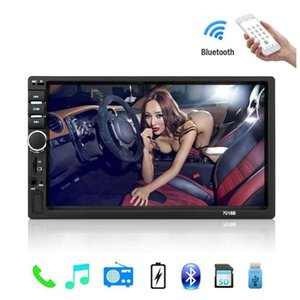 Auto Radio 2 Din General Car Models 7'' inch LCD Touch Screen Car Radio Player Bluetooth Audio Support Rear View Camera
