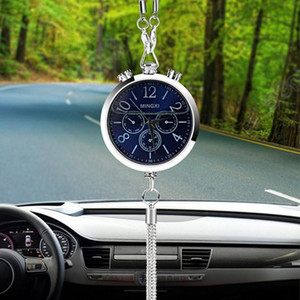 Car Perfume Filled Clock Pendant Interior Decor Rearview Mirror Hanging Ornament 2020
