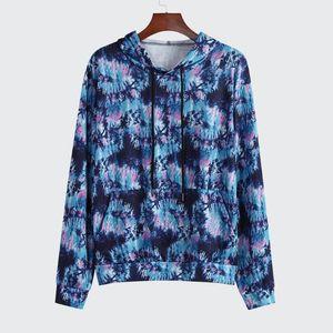 2020 Fashion Sweatershirt Casual Sportswear Personality Men Autumn Winter Tie-dye Hoodie loose Outfits Sweatershirts#guahao