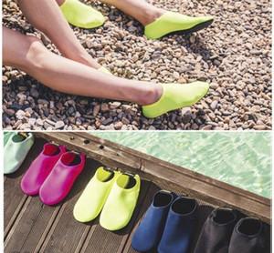 Мужчины Женщины Босиком Кожа Носок Полосатый Обувь Beach Pool Water Socks GYM Аква-Бич плавать Трусы на Surf Аква обувь Плавание Fins