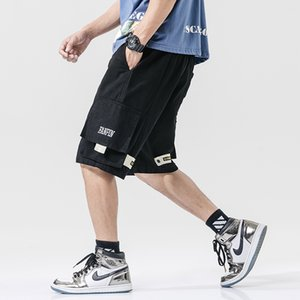 Streetwear Summer Casual Shorts Men Pockets Mens Cargo Shorts Cotton Bermuda Knee Length Patchwork Men's