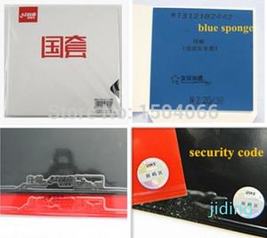 Wholesale-Original Guarantee,security code inside,D39,40,41 DHS National Hurricane 3 Table Tennis Rubber black rubber with blue sponge