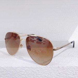 kutusuyla Gözlük UV400 koruması giymek Yeni 6106 Üst Tasarımcı Güneş Basit metal oval çerçeve gözlük Ultra hafif Kolay
