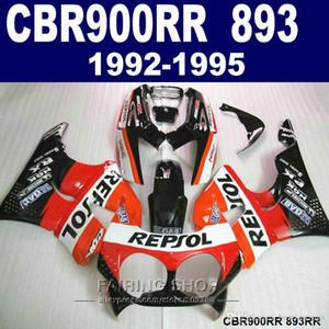 7gifts fairing kit Honda CBR900RR CBR 893 1992-1995 orange white black fairings set CBR 900 RR 09 10 11 VV34