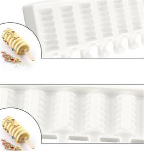 8 Kavite Çizgili Dondurma Üreticileri Kalıp DIY Kalıpları Ice Cube Kalıpları Tatlı Kalıpları Tepsi Popsicle Kalıpları