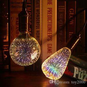 Светодиодная лампочка 3d украшения лампочки E27 6W 110-220V праздничные светильники ST64 G95 G80 G125 A60 новинка рождественские лампа ламмарас
