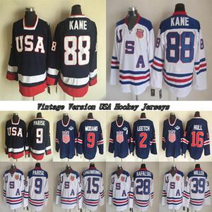 1980 USA Teams Vintage version jersey KANE 9 PARISE 16 HULL 81 KESSEL 9 MODANO 30 THOMAS 39 MILLER CCM Hockey jerseys
