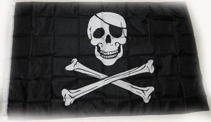 Spedizione gratuita fabbrica diretta 100% Poliestere 90 * 150 cm 3x5 fts Creepy Ragged vecchio jolly roger Skull Cross bones Pirate Flag