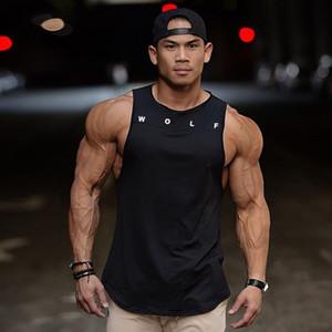 2019 لياقة سترة الرجال أكمام الرياضة تانك الأعلى العضلات رياضة الذئب رجل سترينجر تجريب قوي خزانات الملابس 5 اللون Y19071701