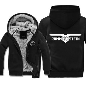 German tank Rammstein heavy metal band European and American rock style autumn and winter plus velvet sweater coat