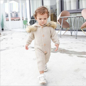 Vieeoease Girls Boys Jumpsuits Christmas Cute Cartoon Knitting Warm Kids Clothes for 2019 Autumn Winter CC-588