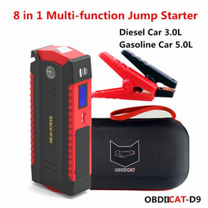 Newest Car START STARTER D9 600A 12V Power Bank Dispositivo de arranque del automóvil Starter Buster LED para cargador de batería