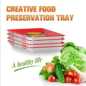 Creative Preservation Tray Fresh Keeping Fresh Spacer Organizer Preservate Refrigerator Storage