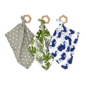 Bebé Mordedor baberos 7 estilos INS animal de la historieta impresa toalla de la saliva del pañuelo estampado de flores de la bufanda de alimentación infantil baberos L-OA6788