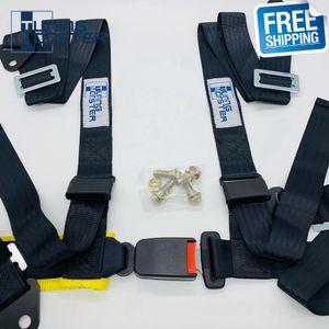 """Ücretsiz Kargo 2"""" 4 Nokta Rekabet Stil Yarış Harness Emniyet Kemeri Emniyet Harness Seat ek bileşenini Kemer"""
