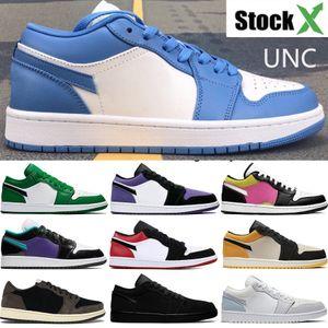 Hommes nike air jordan 1 chaussures de basketbal top 3 unc fragment interdit toe or PSG gymnase royal chaussures concepteur mens rouge US7-12