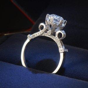 Größe 4-10 Victoria Wieck Luxuxschmucksachen Eternity Frauen-Runde 1.5Ct Diamonique Cz Diamant-925 Sterlingsilber-Hochzeits-Band-Kronen-Ring Geschenk