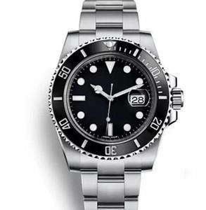 lunette en céramique noire 2019Men cadran 116618LN-97208 Bracelet en acier inoxydable montre mécanique automatique mâle. 40 mm. 3A montre